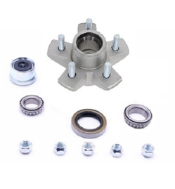 Galvanized 3.5k Trailer Axle Hub Kit- 5 Lug