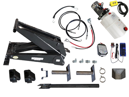 Dump Trailer Hydraulic Scissor Hoist / Lift Premium Kit - 24000 lb - PH625