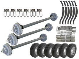 8k Triple Axle TK Trailer kit - 24000 lb Capacity