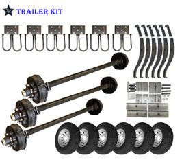 7k Triple Axle TK Trailer kit - 21000 lb Capacity
