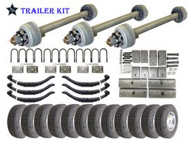 12k Triple Axle TK Trailer kit - 36000 lb Capacity