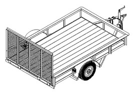 1110 6' x 10' Single Axle 3.5K Utility Trailer DIY Master Plan - 14 How-to Steps w/ Blueprint