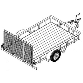 T1108 5' x 8' Single Axle 3.5K Utility Trailer DIY Master Plan - 14 How-to Steps w/ Blueprint
