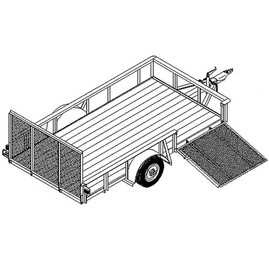 "1112 6'6"" x 12' Single Axle 3.5k or 5.2k Utility Trailer DIY Master Plan - 16 How-to Steps w/ Blueprint"