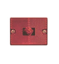 Red Square Reflector Marker/Clearance Light