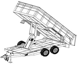 "14HD - 6'4"" x 14' - 14K Dump Trailer DIY Master Plan - 28 How-to Steps w/ Blueprint"