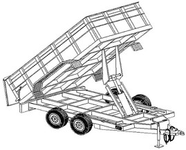 "12HD - 6'4"" x 12' - 12K Dump Trailer DIY Master Plan - 25 How-to Steps w/ Blueprint"