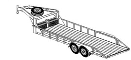 "2220 - 6'6"" x 20' Tandem Axle 12K Gooseneck Lowboy Trailer DIY Master Plan - 19 How-to Steps w/ Blueprint"