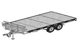 "5216 - 102"" x 16' Tandem Axle 10.4K HD Flatbed Deckover Trailer DIY Master Plan - 17 How-to Steps w/ Blueprint"