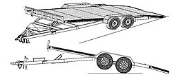 "18HT - 19'x82"" Hydraulic Car Carrier Trailer DIY Master Plan - 19 How-to Steps w/Blueprints"