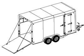 16CC 16'x8' Covered Cargo Trailer DIY Master Plan