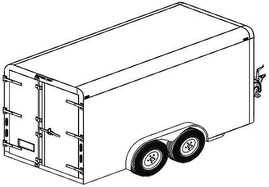 12CC 12'x6' Covered Cargo Trailer DIY Master Plans