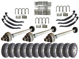 10k Triple Axle Trailer kit - 30000 lb Capacity