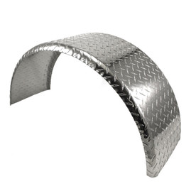 Single Axle 9x32 Diamond Plate Steel Rolled Fender