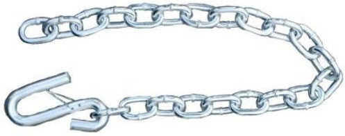 """Silver Trailer Safety Chain - 1/4x31"""" (5k Capacity)"""
