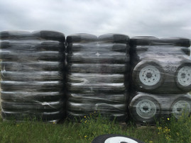 "Pallet (Quantity: 22) of Provider 16"" 10 Ply Radial Trailer Tire & Wheel - ST 235/80 R16 (White Spoke)"