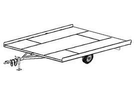 "10SN - 10'x8'2"" Snowmobile Tilt Deck Trailer- 14 How-to Steps w/Blueprints"