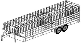 3224 - 24'x6' Livestock Trailer- 26 How-to Steps w/Blueprints