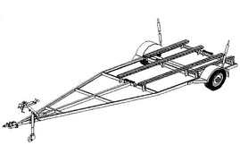 16FB - 16'x6' Variable Width & Length Boat Trailer- 11 How-to Steps w/Blueprints