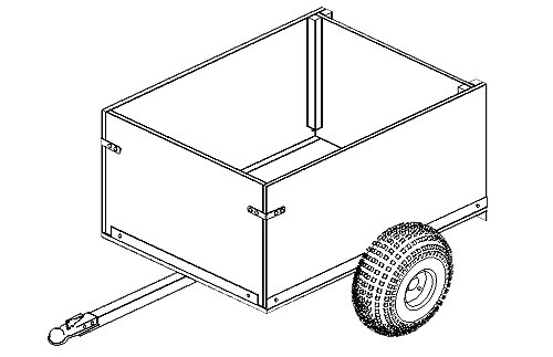 104 - 4'x3' Off Road Utility Cart Trailer- 8 How-to Steps w/Blueprints