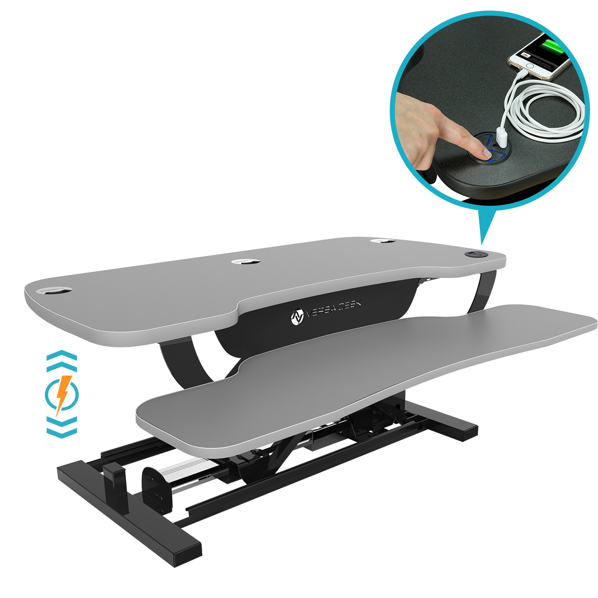 Choose a gloss gray matrix for your Power Pro Plus Sit Stand Desk