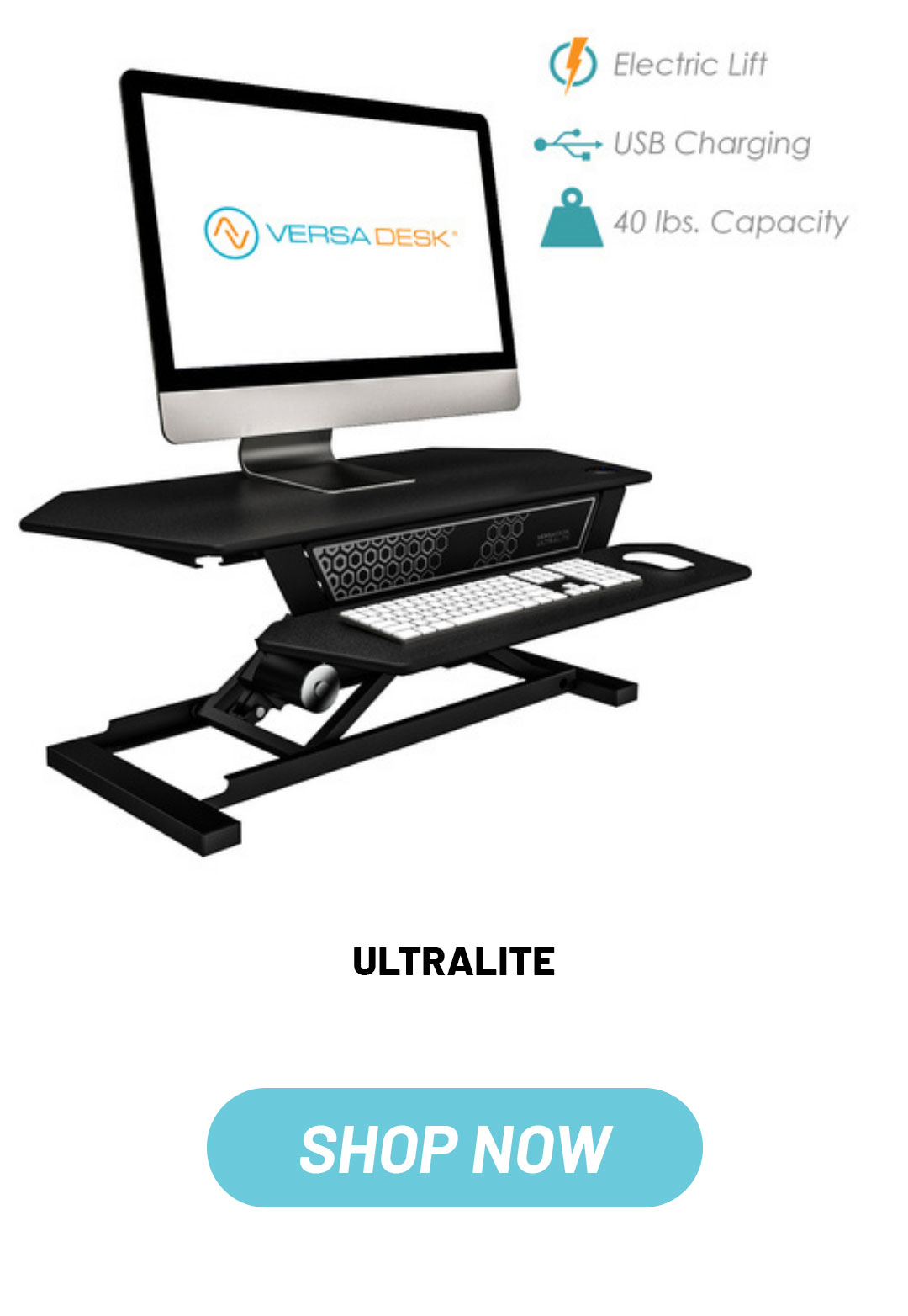 VersaDesk UltraLite standing desk riser