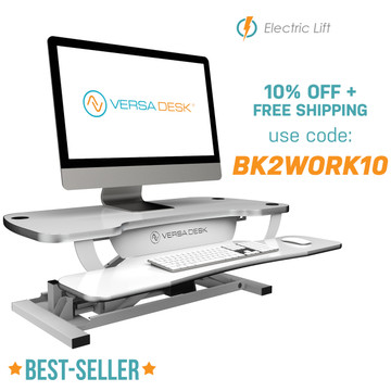 PowerPro®️ - Sit To Stand Electric Desk Converter
