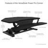 Features of VersaDesk Power Pro Corner Standing Desk Converter