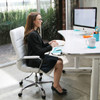 Easily adjust the height of your adjustable standing desk.  Go from sitting to standing in seconds with the electric push-button height control.