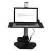 The Mini Power desktop Riser | Partially Elevated | Shown in Black
