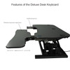 The PowerPro® Deluxe Sit Stand Desk Converter Features | VersaDesk Electric Standing Desk Riser Solutions | Electrify your work experience!
