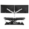 OmniView Dual Monitor Arms |  Back View of Mounted Monitors