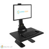 Sunrise Desk Converter Single Monitor Mount With Integrated Cable Management & Electric Powered Height Adjustment