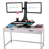 Sunrise Desk Converter Dual Monitor Ergonomic Workstation