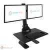 Sunrise Desk Converter Dual Monitor Mount With Integrated Cable Management & Electric Powered Height Adjustment
