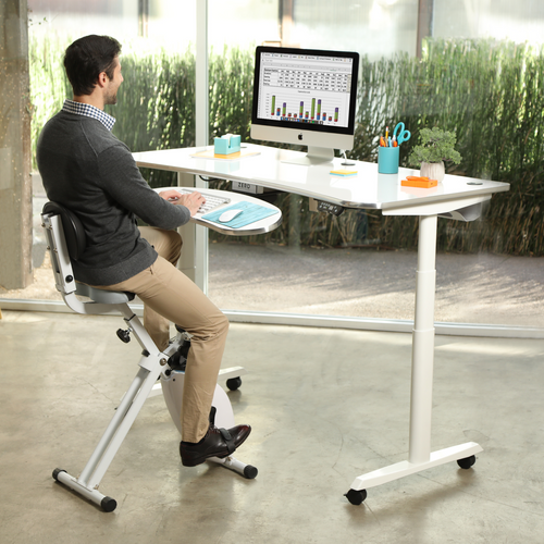 Seated Desk Cycle from VersaDesk helps you turn your work place into and active workplace.