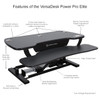 The PowerPro® Elite Sit Stand Desk Converter Features | VersaDesk Electric Standing Desk Riser Solutions | Electrify your work experience!