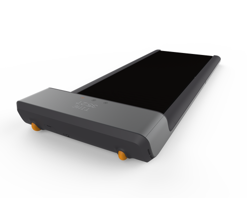 Fold-able Treadmill  Integrate fitness into your work space with the Fold-able treadmill. Track your daily step count, compete with your friends or colleagues, and set goals/reminders all through our Bluetooth connected APP. This product will help increase your productivity and blood circulation throughout the day. Compatible for any work space including but not limited to cubicles and home office. The LED display and APP will also track your time, steps, speed, calories and distance. Perfect for daily use with its anti-slip belt, sturdy base and the smooth motor that will not disturb others.
