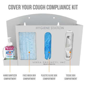 Wall Mount Hygiene Station  - 4 Compartments