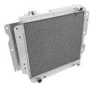 1987-2004 Jeep YJ Champion 3 Row Core Alum Radiator