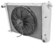 1968-1987 20 Inch Core GM 3 Row Champion Aluminum Radiator Fan Combo