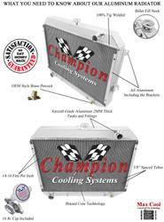 1968 69 70 71 72 73 Plymouth Roadrunner Champion 3 Row Core Alum Radiator
