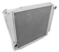 1966 67 68 69 70 71 72 73 74 75 76 77 Bronco Champion 3 Row Core Aluminum Radiator with Ford Config  for V8
