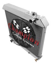 1960 61 62 63 64 Buick Alum 3 Row Core Champion Radiator Fan Combo