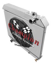 1960 61 62 63 64 Buick 3 Row Champion Aluminum Radiator Fan Shroud Combo