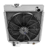 1960 61 62 63 64 65 66 Ford 4 Row Champion Aluminum Radiator Fan Combo
