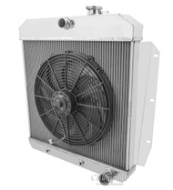 1955 56 59 Chevrolet Truck 2 Row Champion Aluminum Radiator Fan Combo