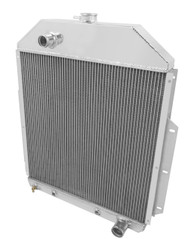1942 43 44 45 46 47 48 49 50 51-1952 Ford Truck with Chevy Conv 3 Row Core Aluminum Radiator