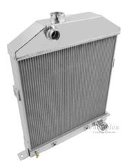 1942 43 44 45 46 47 48 Ford / Mercury Cpe Chevy Config 3 Row Core Alum Radiator