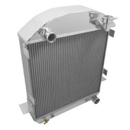 1924 25 26 27 T-Bucket with Chevy Config Champion 3 Row Core Alum Radiator